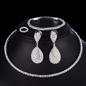 Jewelry - 4 PCS Luxury Wedding Bridal Jewelry Sets for Bride